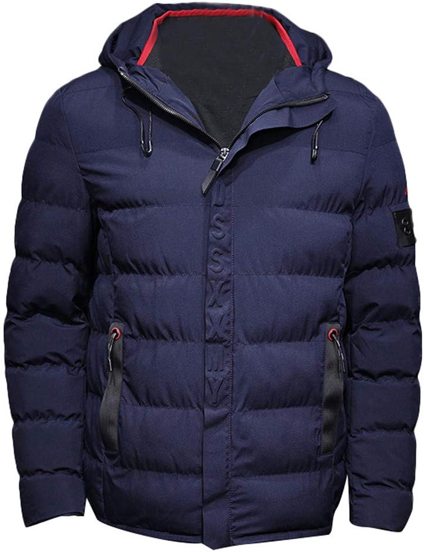 Muranba Men's Winter Classic Thicken Cotton Coat Hooded Jacket