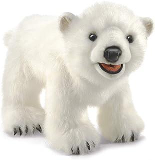 Folkmanis Polar Bear Cub Hand Puppet, White, Model:3041