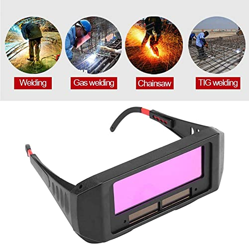 1 Pair Solar Auto Darkening Welding Goggle, Safety Protective Welding Glasses Mask Helmet, Eyes