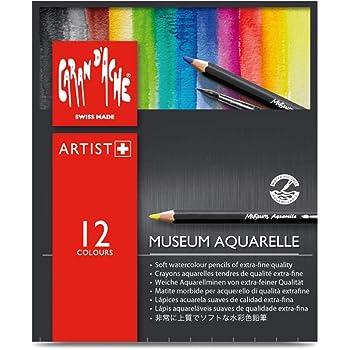 Caran d/'Ache Couleur Crayon Set-Musée Aquarelle Hydrosoluble Crayon de couleur Lot