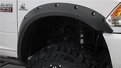 Bushwacker 50921-02 Matte Black Dodge Ram Pocket Style Fender Flare, Set of 4 (Max Coverage)