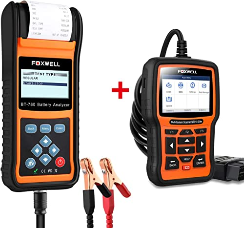 2021 FOXWELL NT510 discount Elite Diagnostic Scan Tool All popular Function Scanner for BMW Battery Tester BT780 online
