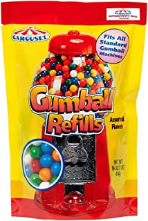 Carousel Assorted Gumball Refill Bag with Carousel Authenticity Seal + 16 oz