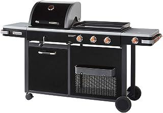 BRASERO - Barbecue Bi-Energy Barbecue Charbon et Plancha 60x42cm à gaz avec brûleur latéral pour 12,95KW