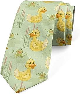 Dibujos animados de corbata, pato y ranas, caqui mostaza verde ...
