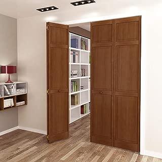 Kimberly Bay Traditional Six Panel Espresso Solid Core Wood Bi-fold Door (80x24)
