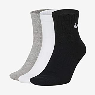 U Nk Everyday LTWT Ankle 3pr Calcetines, Unisex Adulto