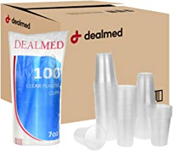 Dealmed Disposable Clear Plastic Cups, 7 oz, 2500 count