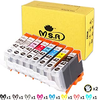 MS.R Compatible Ink Cartridges Replacement for Canon Cli-42 Professional Inkjet PIXMA PRO-100