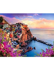 """Paint by Numbers for Adults DIY Canvas Oil Painting Kit 16""""Wx20""""L Pictures Paintwork Drawing -Seaside"""