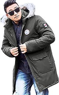 43e70d3d9ba3d Mens Winter Coats Big and Tall.Men s Winter Medium Length Zipper Plus Size  Hooded Pocket