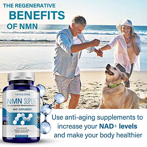 61xxVAuo7OL - NMN Supplement, 500MG Nicotinamide Mononucleotide Capsules for Supports Anti-Aging, Longevity and Energy, Naturally Boost NAD+ Levels (NMN 60PCS)