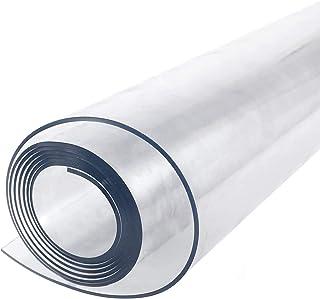 Nappe Transparente Rectangulaire, Nappe En Plastique Transparent 180 X 100 Cm RéSistant Et Lavable En Pvc RéSistant Et éTa...