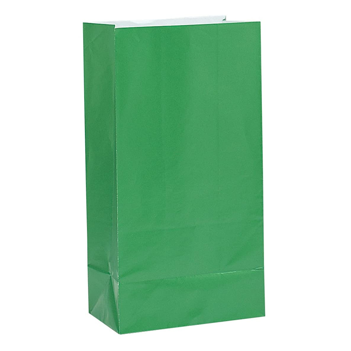 Green Paper Party Favor Bags, 12ct