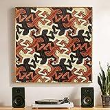 QianLei Lagarto del Artista holands Pop Impresiones sobre Lienzo para Cuadros Abstractos de Pared decoracin Moderna Pintura al leo-24x24 Pulgadas