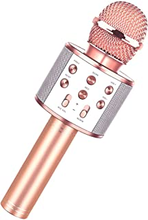 Toys For 7 8 9 10 11 Years Old Girls,Best Present Gifts For 6-15 Years Old Girl Boy,Bluetooth Wireless Karaoke Machine, Party Favor for Teen Boys Girls Toys Age 4-12 Gifts Toys for Teens Boy Rose Gold
