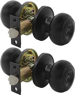 Gobrico Keyed-alike Exterior Door Knobs Flat Ball Door Locksets with Same Key, 2Pack