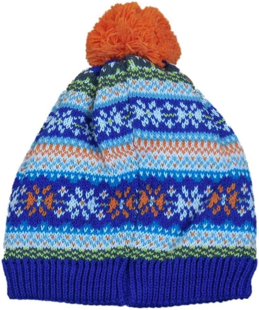 CP Infant Boys Girls Max 78% OFF Blue Orange Print safety Stockin Beanie Nordic Pom