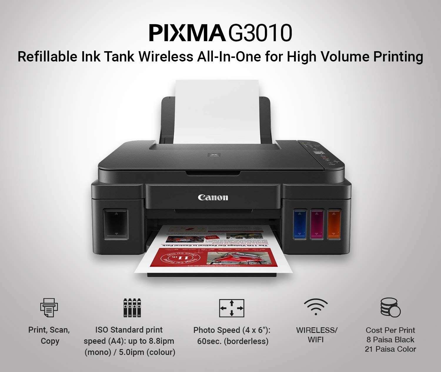 Amazon.in Buy Canon Pixma G20 All in One Wireless Ink Tank ...