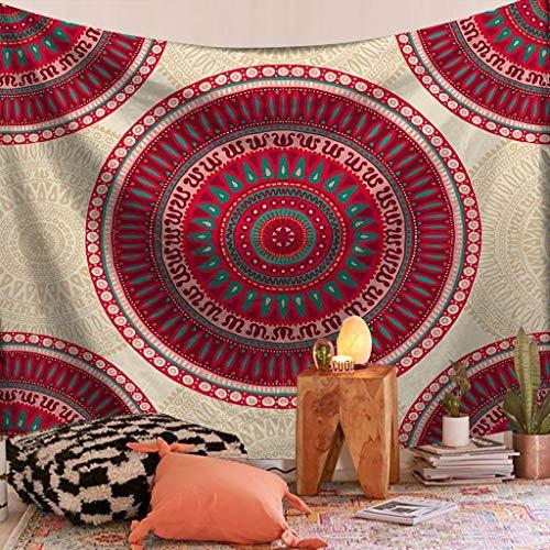 HREGFLT tapizTapiz psicodélico para Colgar en la Pared, Mandala, Toalla de Playa de Arena, Manta, Almohadilla para Dormir, tapices, decoración del hogar