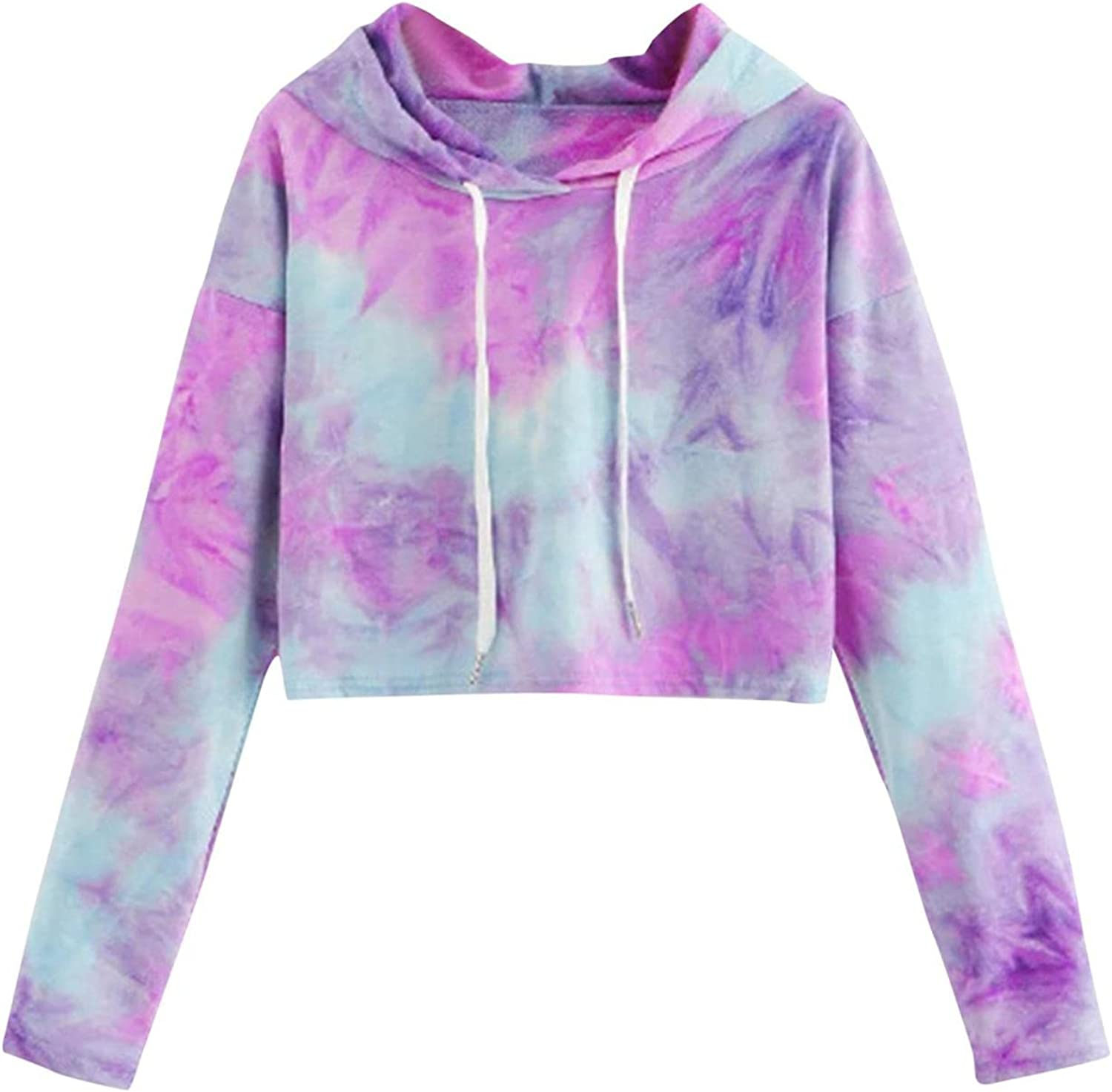 Crop Max 50% OFF Hoodies for Free shipping on posting reviews Women Panokly Teen Dye C Girls Sleeve Tie Long