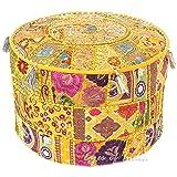 Online Big Bazar Puffe, De Algodón Hecho a Mano Otomano Puf, silla banco taburete 14X22 puf cubierta