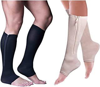 """Calcetas de Compresión """"POWER ZIP"""" by Power Legs (2 par"""