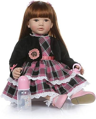 RENYAYA Reborn Baby Puppe Weiße Simulation Silikon Silikon 24 Zoll 60cm lebensechte Junge mädchen Spielzeug Beste Xmas Geschenk
