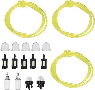 Brandstofslang, 1,5 meter 3 Maten Plastic brandstofslang met inklikbare primerlamp Brandstoffilter Geschikt voor Stihl Zama