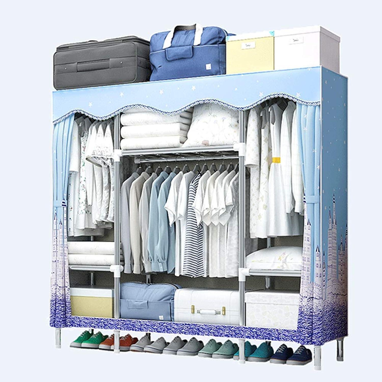 Hai Yan Boutique Cloth Wardrobe Cloth Wardrobe Cloth Wardrobe Assembly Dormitory Fabric Small Wardrobe Coat Rack Hanger