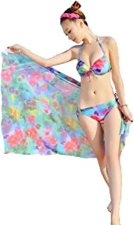 【hinryo】8855 水着 レディース  3枚セット ワンピース パレオ ビキニ 花柄 女性用 体型カバー