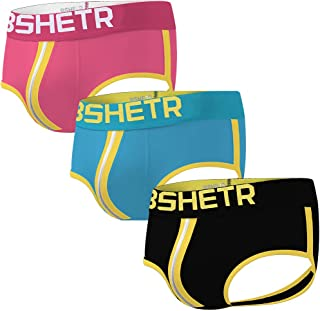 Mens Thongs Underwear, Cotton Jockstrap Stretch Performance Buttocks Jock Strap (4-Pack)
