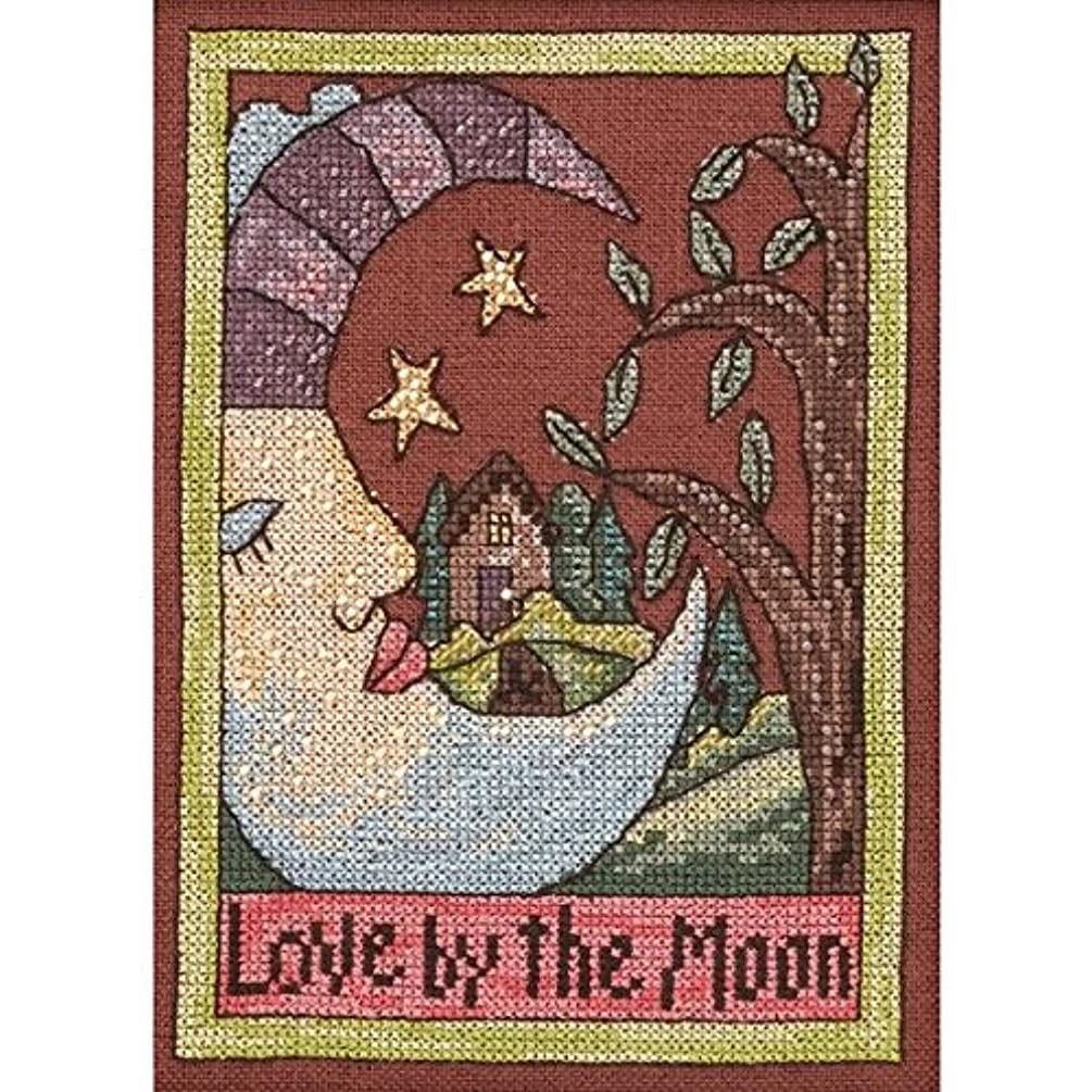 Mill Hill ST303102 28 Count Sticks Love by The Moon Counted Cross Stitch Kit, 5 by 7-Inch, Linen