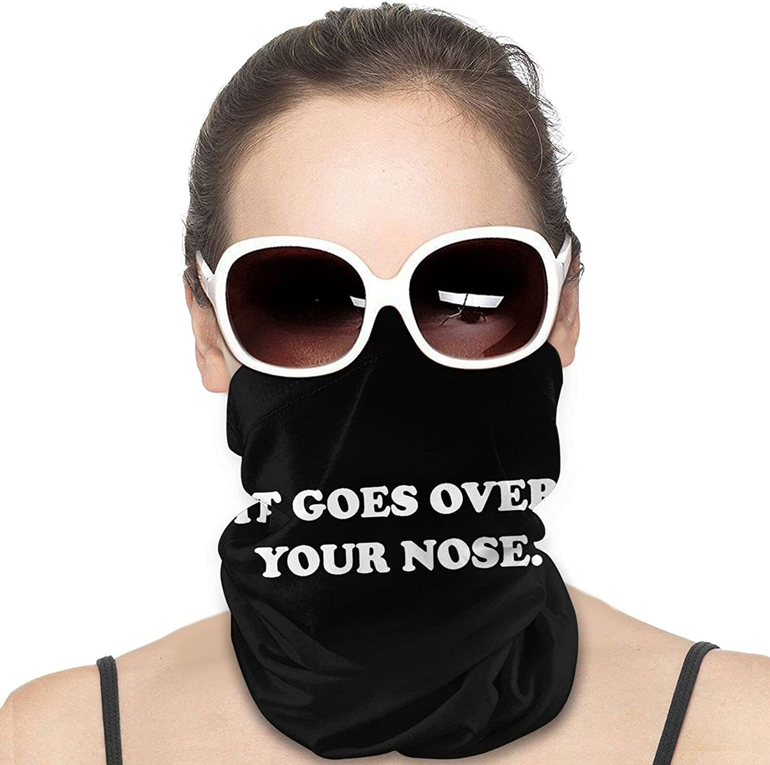 It Goes Over Your Nose Round Neck Gaiter Bandnas Face Cover Uv Protection Prevent bask in Ice Scarf Headbands Perfect for Motorcycle Cycling Running Festival Raves Outdoors