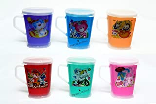 Perpetual Bliss Fancy Cartoon Printed Multicolor Milk Mugs for Kids with Lid for Shakes,Juices,Coffee,Birthday Return Gift...