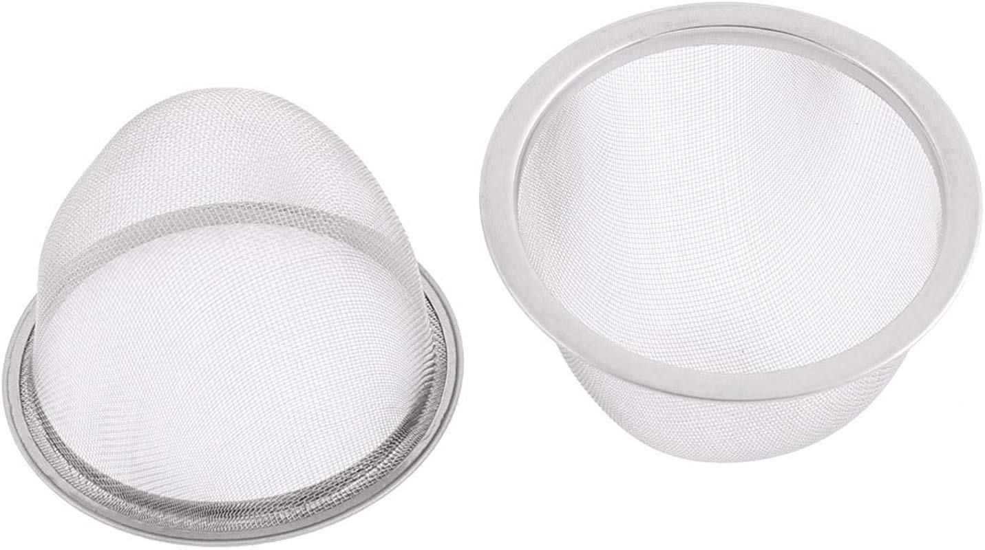 Uxcell Stainless Steel Mesh Tea Leaves Spice Strainer 80mm Outer Dia 2 Pcs