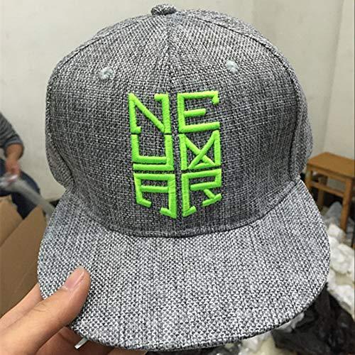 SUNNYBQM Sonnenhut Gorras Kappe Neymar Jr NJR Baseballmützen Hip-Hop Sport Hysteresenkappe Hut Visier Chapeu Mode Grauen Hut Männer Frauen