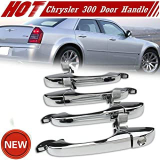Outside Door Handle Chrome 4 Pcs For Chrysler 300 C 05-10 Dodge Magnum 05-08 Charger