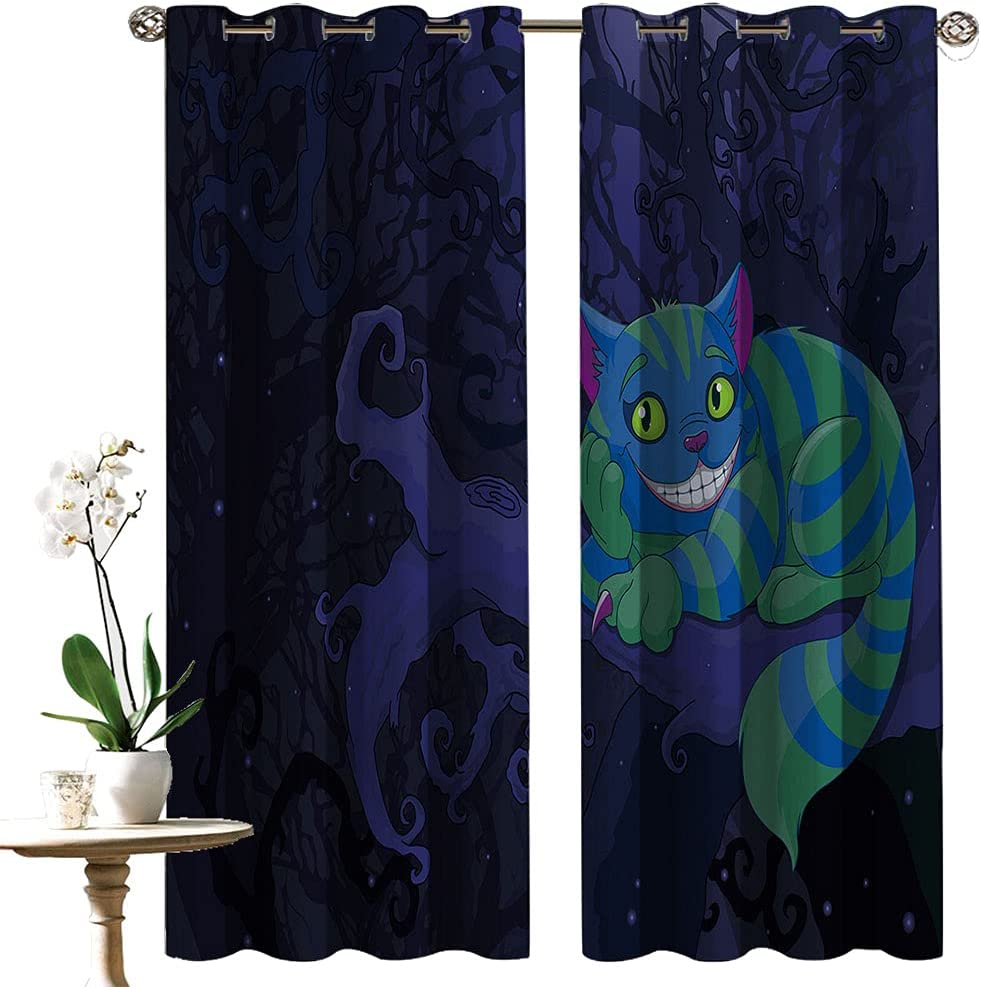 Spooky House Decor Heat free shipping and Light Illustration Spasm price Curtain Blocking