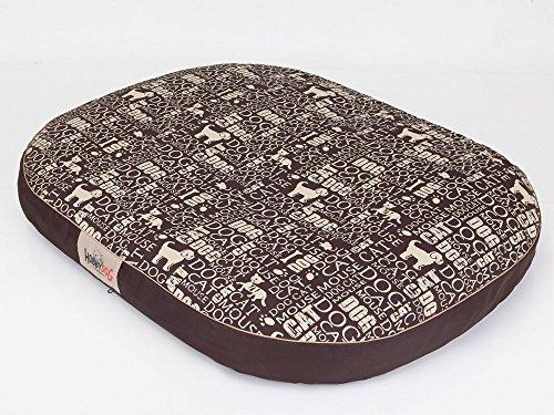 Hobbydog M MOWNAP5 Tapis Ovale pour Chien Marron Taille M 70 x 50 cm 1,6 kg