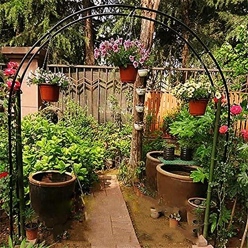 LJHSS Arco de jardín,Metal Arco jardín cenador Planta Rosa Escalada Arco decoración Fiesta de Boda