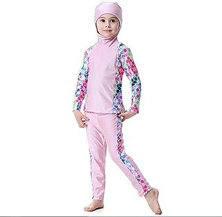 e9809cf658 Girls FXFAN Muslim Hui Girl Traditional Fashion Girl Swimwear Conservative  3 Piece Split SwimsuitZHANGM Swimwear