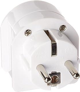 Ceptics SA-EU South Africa to Europe Schuko Grounded Plug Adapter (250V - Max 13A)