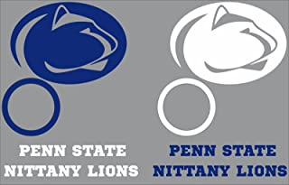 Penn State Nittany Lions Cornhole Decal Set - 6 Cornhole Decals Free Circles