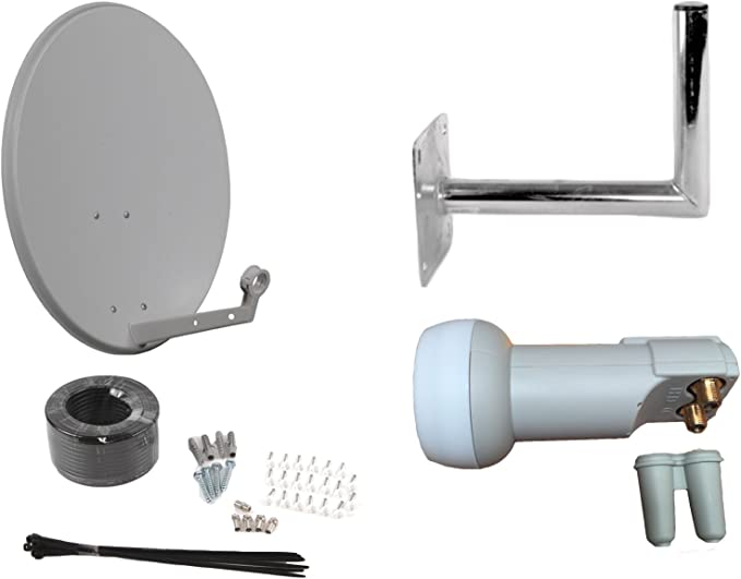 Antena parabólica universal de 60 cm para Sky Freesat Astra Hotbird Polesat