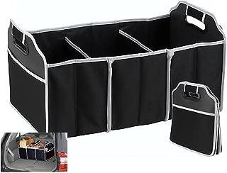 PiggiesC Portable Collapsible Folding Flat Trunk Auto Organizer for Car SUV Truck Van