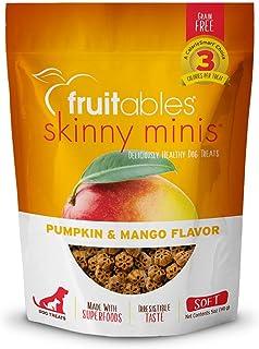 Fruitables Skinny Minis Grain Free Soft Dog Treats Pumpkin & Mango Flavor 5 Oz