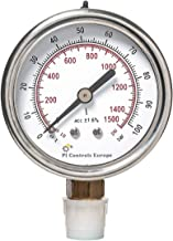 PI Controls UK Pressure Gauge, PG-63-R100-WF-BR