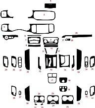 Rvinyl Rdash Dash Kit Decal Trim for Dodge Charger 2011-2015 - Carbon Fiber 4D (Black)