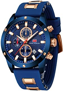 Men's Watches, MINI FOCUS Waterproof Sports Watches for Men, Men's Wrist Watches Relojes De Hombre